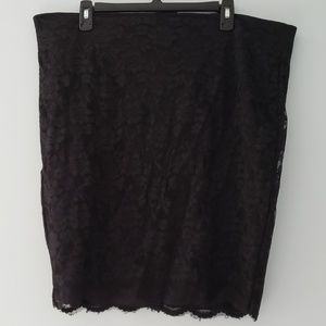 Women's Torrid black lace pencil skirt size 20